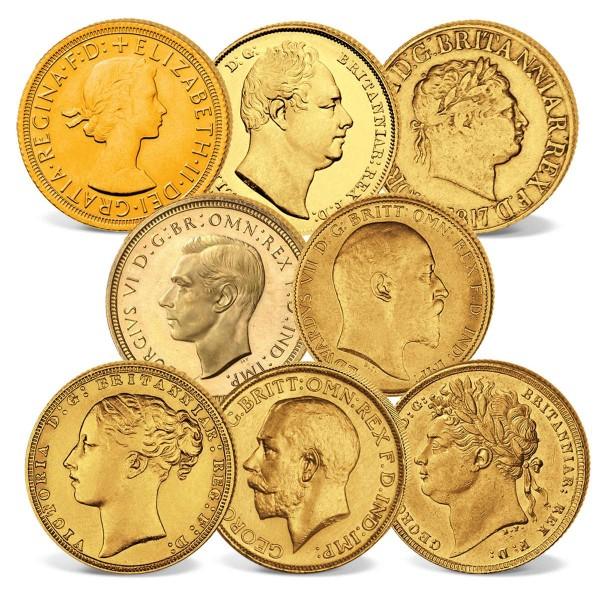 """8er Goldmünzen-Set """"200 Jahre Sovereigns"""" AT_2460232_1"""