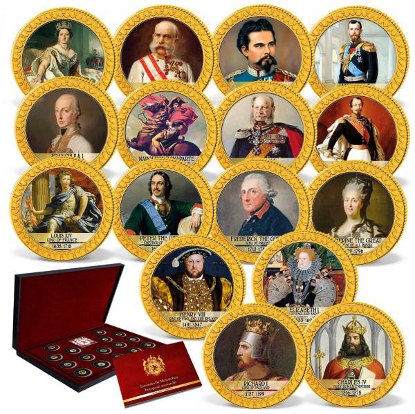 "16er Komplett-Set Goldmünzen ""Europäische Monarchen"" AT_1739437_1"
