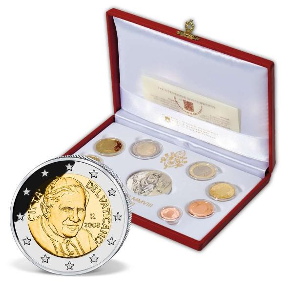 """Euro Kursmünzensatz """"Vatikan 2008"""" PP AT_2708659_1"""