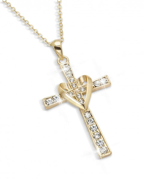 """Halskette """"Kreuz mit Diamant"""" AT_3006130_1"""