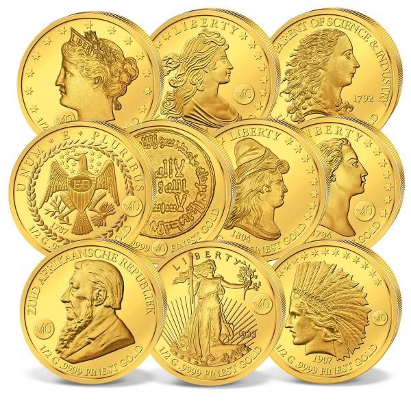 """10er Komplett-Set """"Die wertvollsten Münzen der Welt"""" AT_1739074_1"""