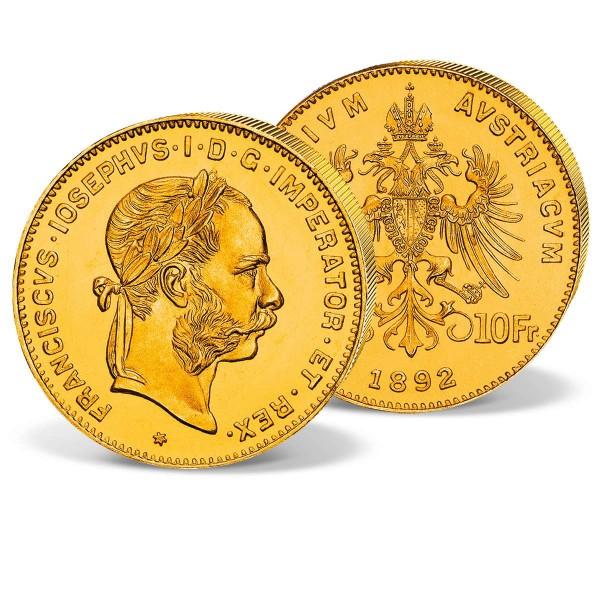 """Goldmünze """"4 Florin Österreich Franz Josef I."""" AT_2460012_1"""