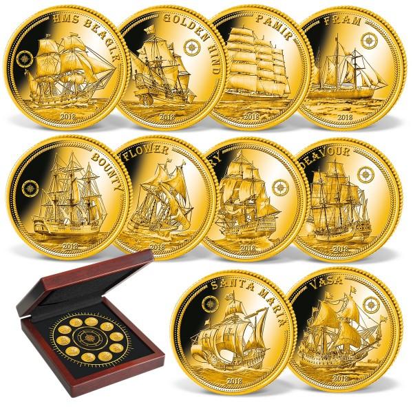 """10er Goldmünzen-Set """"Die berühmtesten Schiffe der Welt"""" AT_1739110_1"""