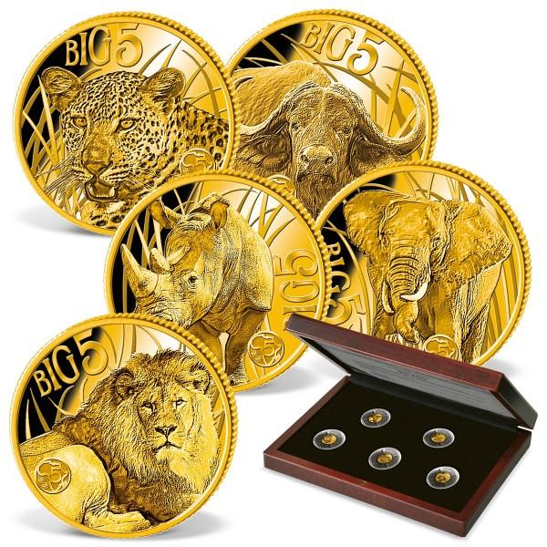 "5er Komplett-Set Goldmünzen ""Big Five Afrika"" 2020 AT_1739445_1"