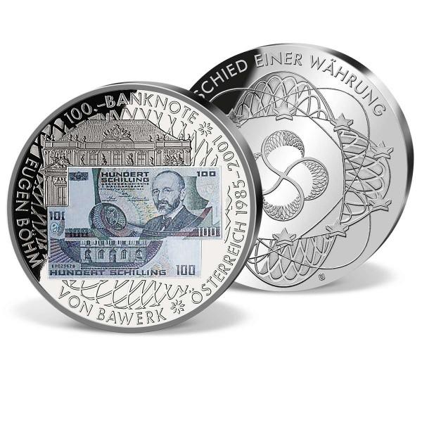 """Banknotenprägung """"100,00 ÖS Eugen Böhm"""" AT_9182002_1"""