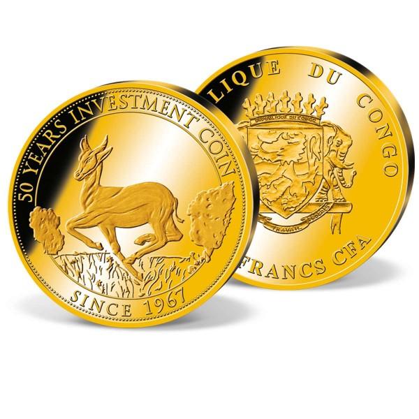 """Offizielle 50 Francs-Goldmünze """"50 Jahre Anlagemünze"""" AT_1683027_1"""