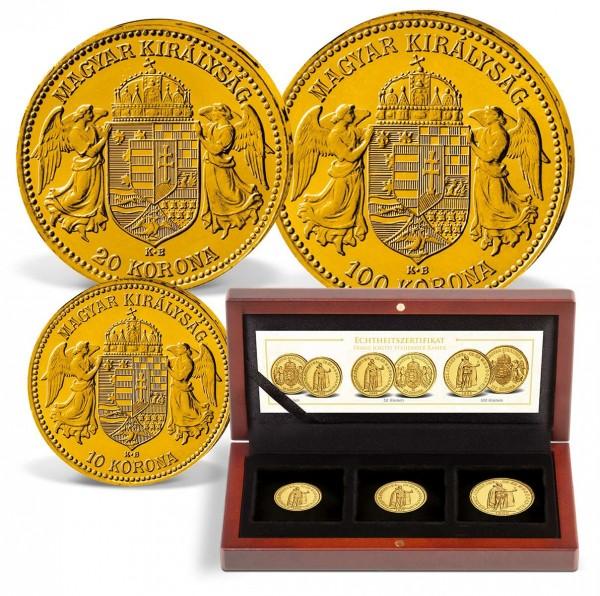 """3er Goldmünzen-Set """"Kaiser Franz Joseph I."""" AT_2460145_1"""