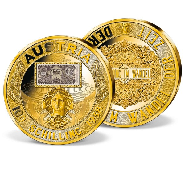 "Banknotenprägung ""100 Schilling 1938"" AT_8434202_1"
