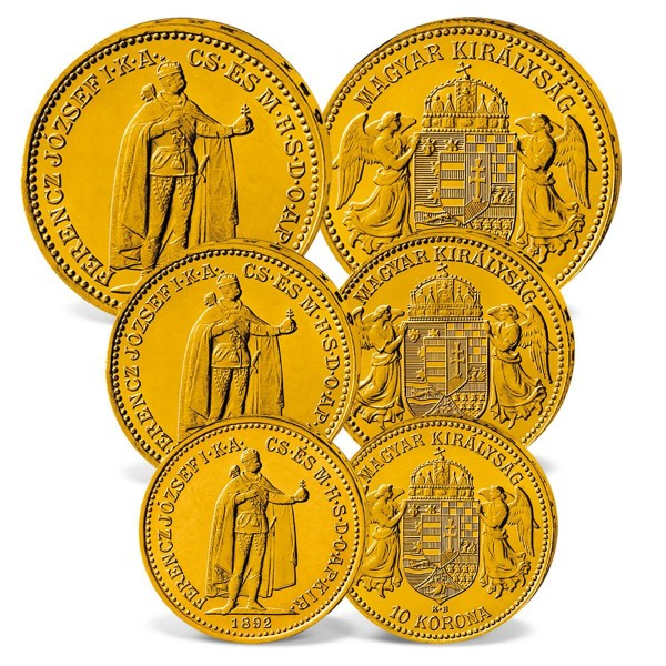 "3er Goldmünzen-Set ""Kaiser Franz Joseph I."" AT_2460145_1"