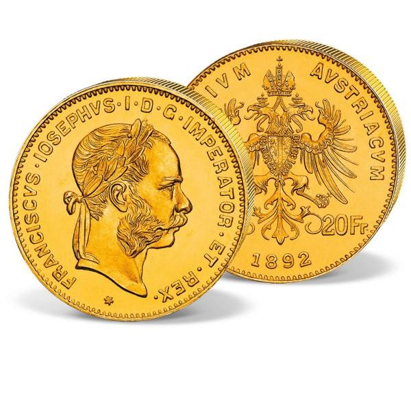 """Goldmünze """"8 Florin Franz Joseph 1870-1892"""" AT_2460133_1"""