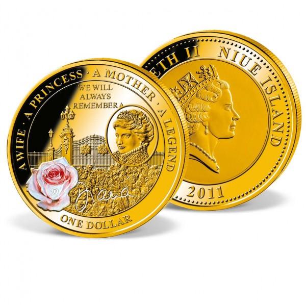 """Gedenkmünze 1 Dollar """"Trauer über Dianas Tod"""" AT_1683035_1"""