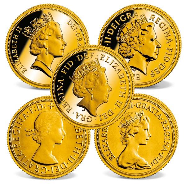 """5er Set Sovereign """"Queen Elizabeth II."""" AT_2460168_1"""
