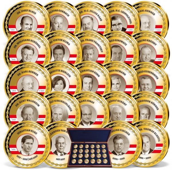 """20er Komplett-Set """"Bundeskanzler und Präsidenten Österreichs"""" AT_9090980_1"""