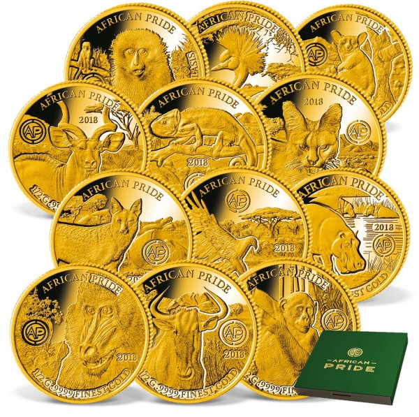 "12er Goldmünzen-Set ""African Pride"" AT_1739083_1"