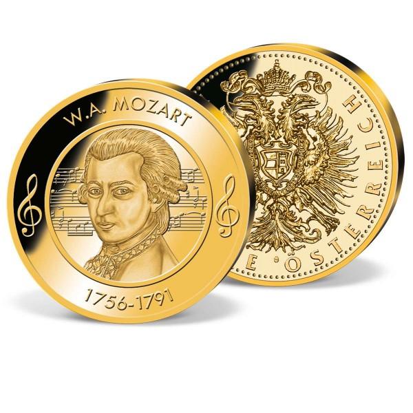 "Gedenkprägung ""Wolfgang Amadeus Mozart"" vergoldet AT_9090660_1"