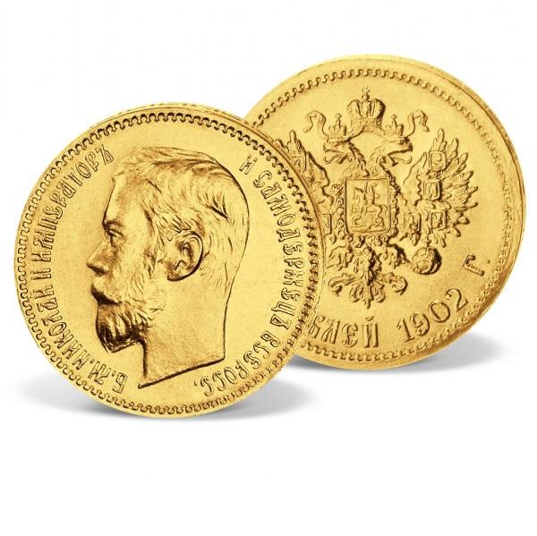 """Goldmünze  5 Rubel Rußland """"Zar Nikolaus II."""" AT_2430932_1"""