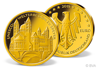 100 Euro Gold-Gedenkmünze Dom zu Speyer Deutschland 2019