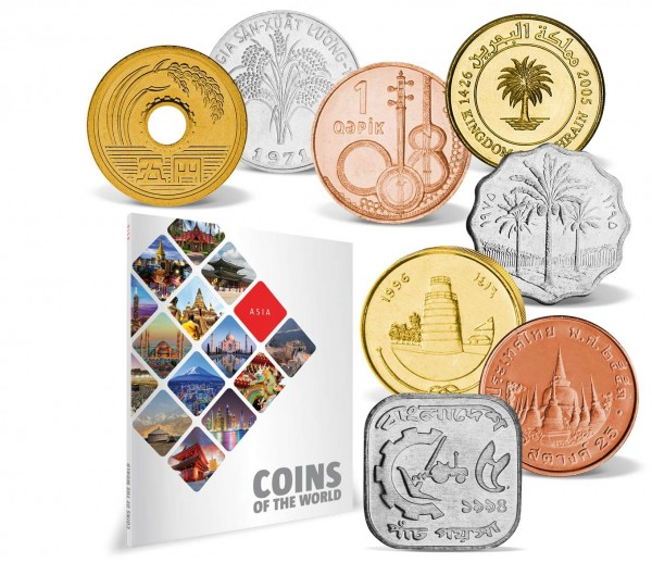 "51er Komplett-Set ""Coins of the World - Asien"" AT_8811007_1"