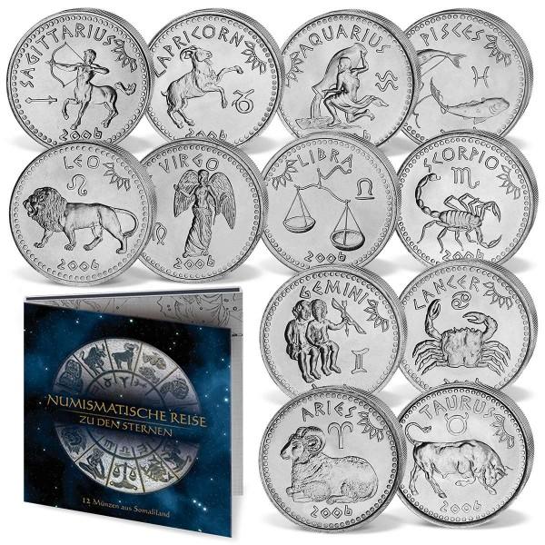 """12er Komplett-Set 10 Shillings """"Die Tierkreiszeichen"""" AT_8811003_1"""