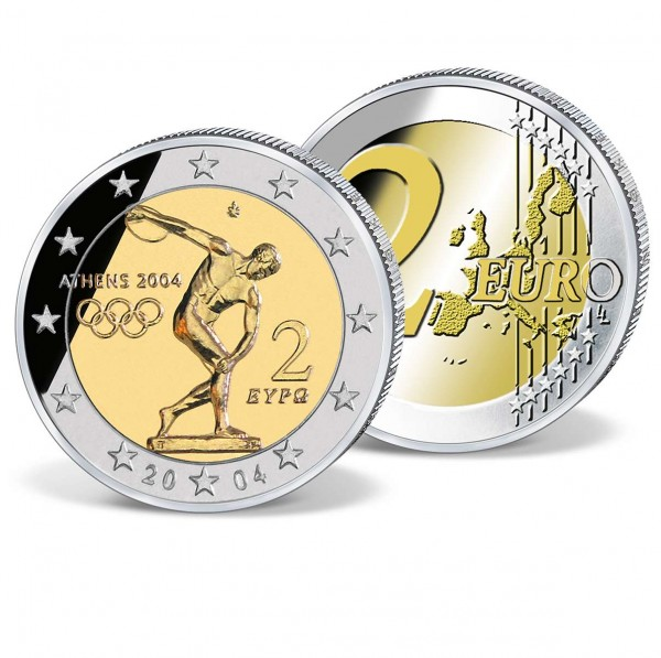 """2 Euro Münze """"Griechenland 2004 Olympia"""" AT_2708226_1"""