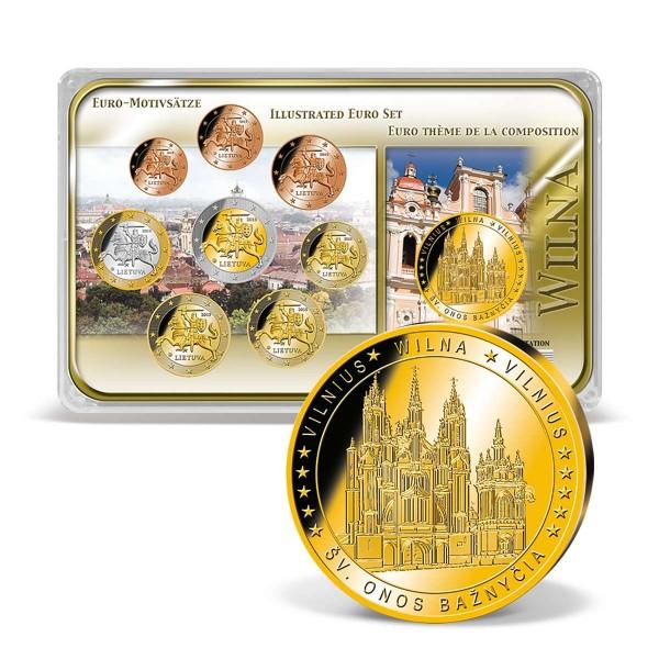 """Euro-Motivsatz """"Litauen/Wilna"""" 2015 AT_8388400_1"""