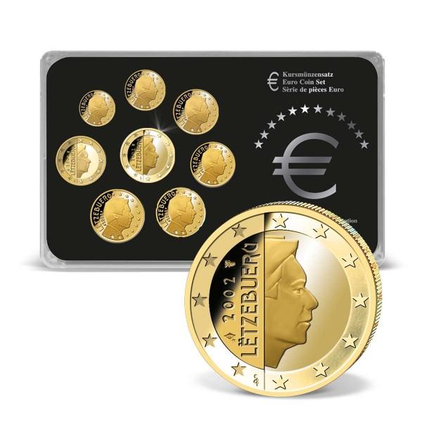 "Kursmünzensatz  ""Luxemburg"" 24k vergoldet AT_2707940_1"
