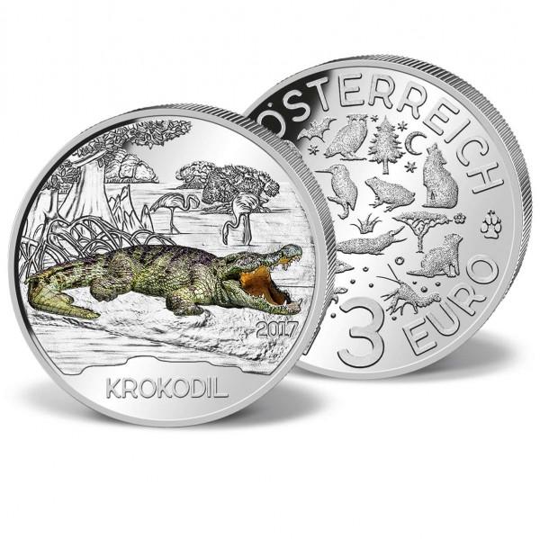 """3 Euro-Gedenkmünze Österreich """"Tier-Taler: Das Krokodil"""" 2017 AT_2719670_1"""