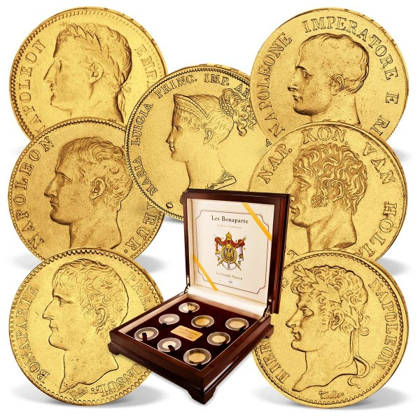 "7er Goldmünzen-Set ""Kaiser Napoleon Bonaparte"" 1806 - 1821 AT_1550210_1"