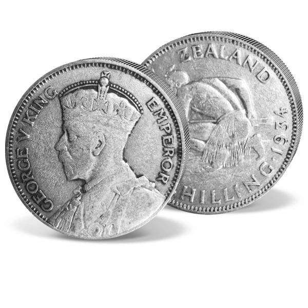 "Silbermünze 1 Shilling Neuseeland ""Maori"" AT_2421212_1"