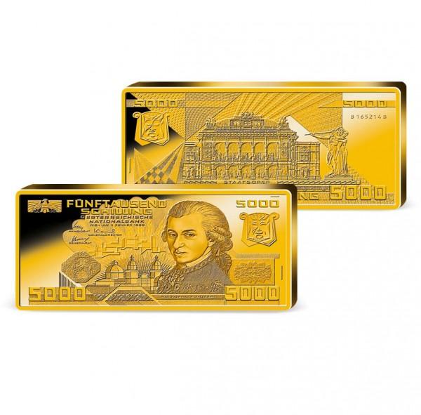 "Barrenprägung ""5.000 Schilling Banknote"" AT_9038010_1"