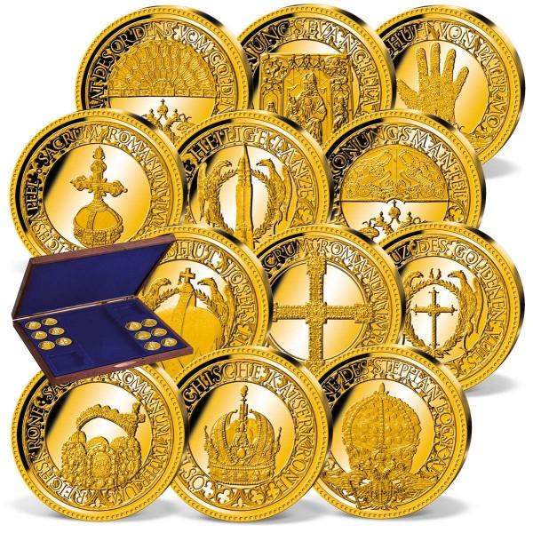 """12er Komplett-Set """"Die Wiener Schatzkammer"""" in Gold AT_8435897_1"""