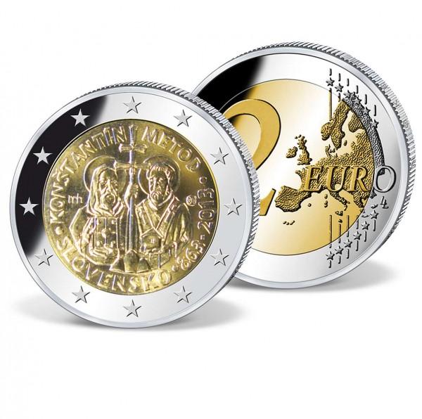 """2 Euro Gedenkmünze """"Slowakei 1150. Jahrestag Byzantinische Mission"""" AT_2718133_1"""
