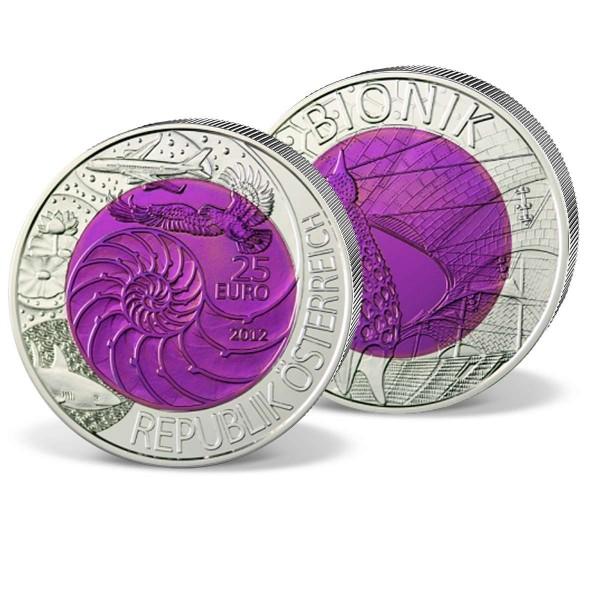 """Silber-Niob-Gedenkmünze 25 Euro """"Bionik"""" Österreich 2012 AT_2719565_1"""