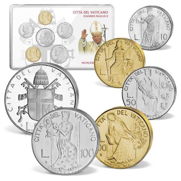 """6er Komplett-Set Kursmünzen """"Stadtstaat Vatikan"""" 1979 AT_8811026_1"""