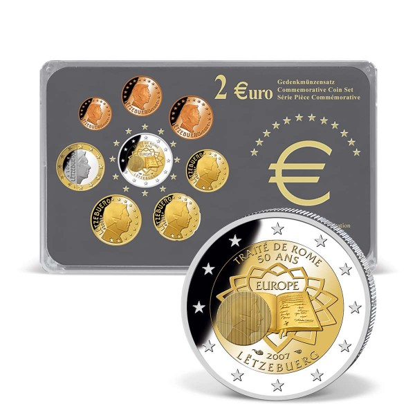 """2 Euro Gedenksatz """"Römische Verträge Luxemburg 2007"""" AT_2718979_1"""