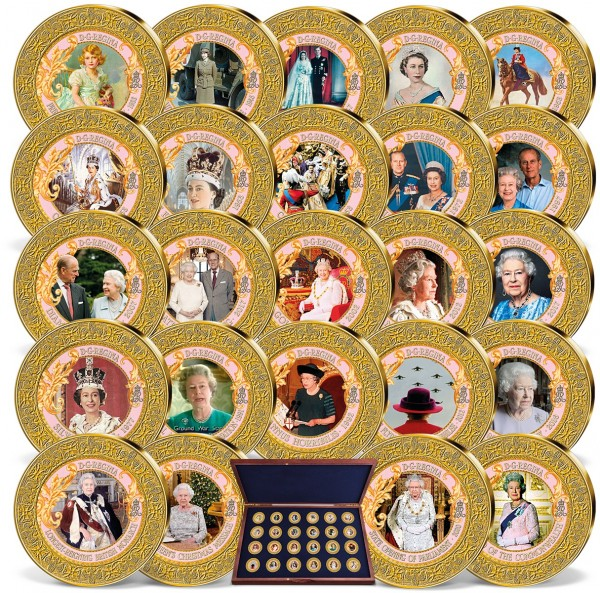 "24er Komplett-Set ""Queen Elizabeth - Momente der Herrschaft"" AT_9534730_1"