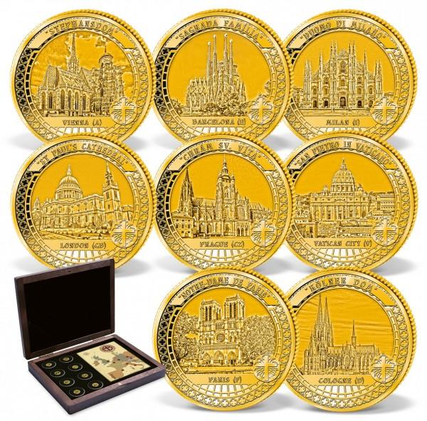 """8er Komplett-Set Goldmünzen """"Die Häuser Gottes"""" AT_1739410_1"""