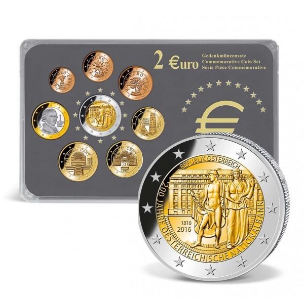 2 Euro Gedenkmünzensatz österreich 200 Jahre Nationalbank 2016