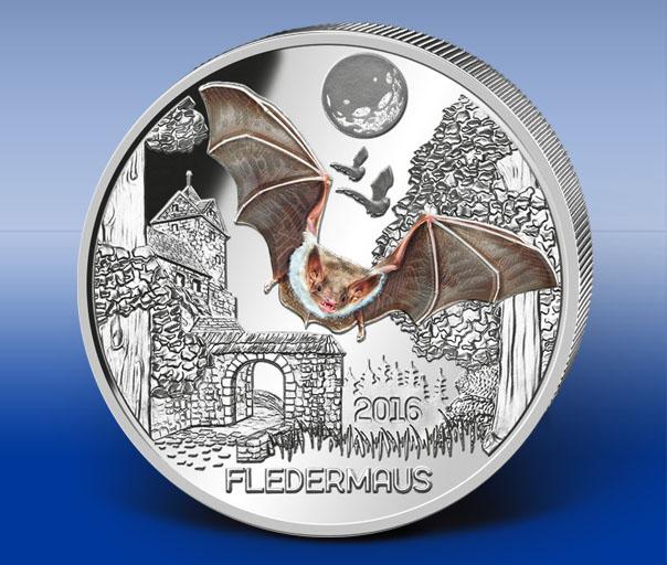 Erste 3 Euro Gedenkmünze Tier Taler österreich Münzkontor