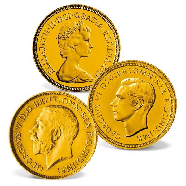 """3er Goldmünzen-Set Half SovereignVereinigtes Königreich """"Victoria"""" AT_2460160_1"""