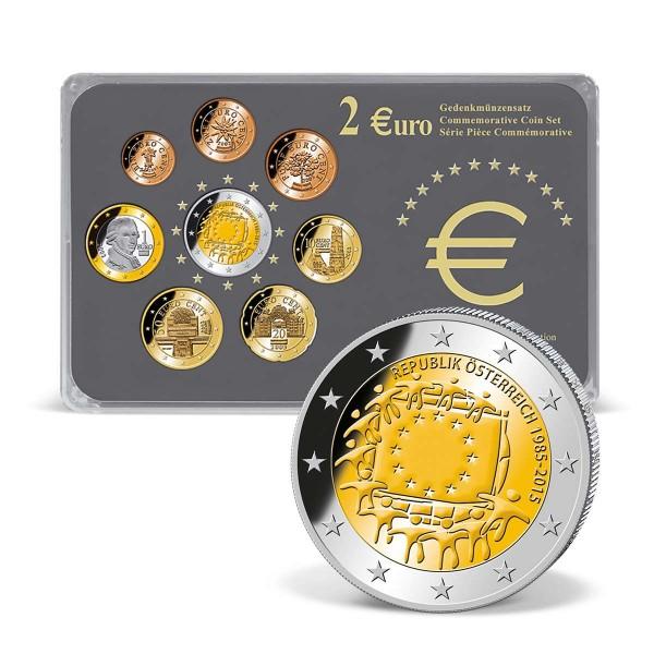"""2 Euro-Gedenksatz Österreich """"30 Jahre Europaflagge"""" 2015 AT_2718279_1"""