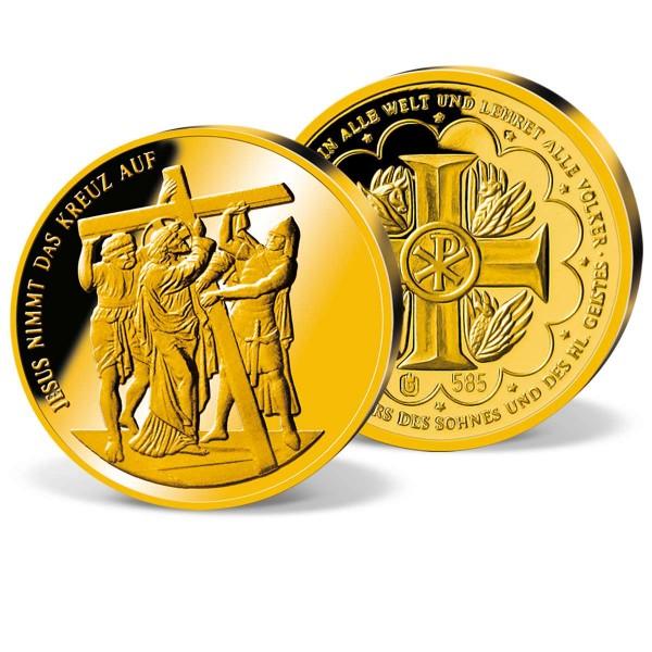"""Goldprägung """"Jesus nimmt das Kreuz auf"""" AT_9034320_1"""