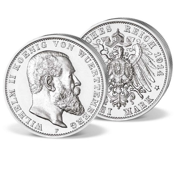 """Historische Silbermünze """"Wilhelm II von Württemberg"""" AT_1580071_1"""
