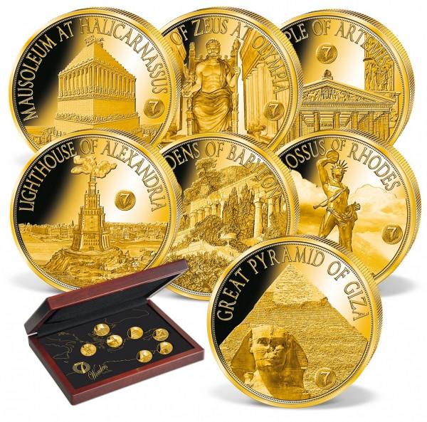 """7er Goldmünzen-Set """"Die 7 Weltwunder der Antike"""" AT_1739090_1"""