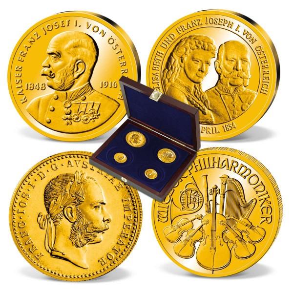 """4er-Set Goldmünzen und -prägungen """"Das Gold Österreichs"""" AT_2460018_1"""
