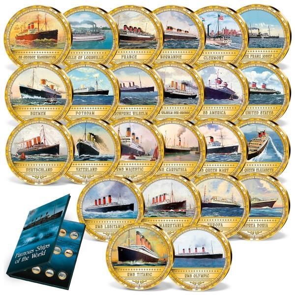 "24er Komplett-Set ""Die berühmtesten Dampfschiffe der Welt"""