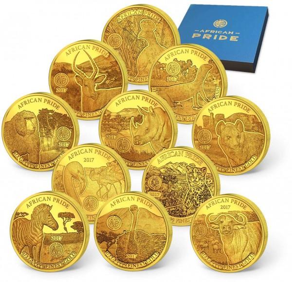 "11er Goldmünzen-Set ""African Pride"" AT_1739061_1"