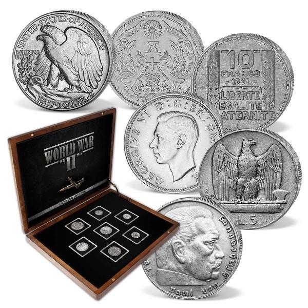 """7er Komplett-Set Silbermünzen """"Der Zweite Weltkrieg"""" AT_8811015_1"""