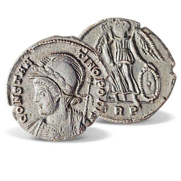 Original Bronzemünze des römischen Kaisers Konstantin AT_2470001_1