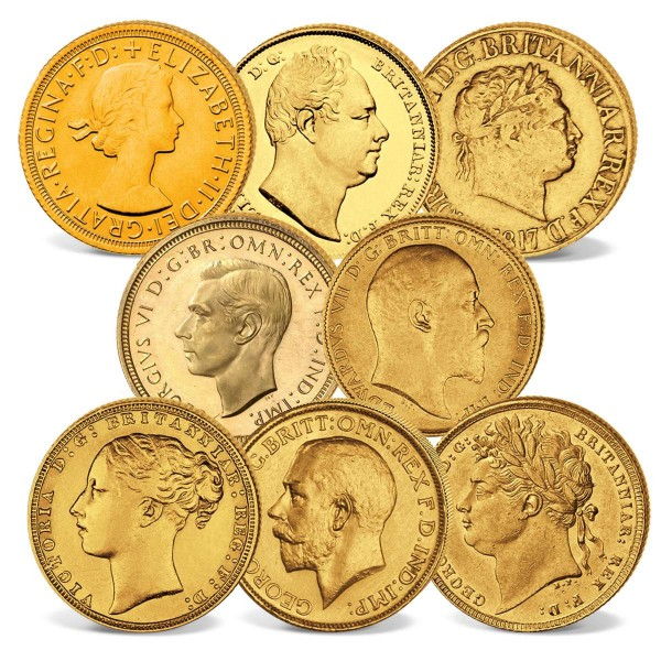 "8er Goldmünzen-Set ""200 Jahre Sovereigns"" AT_2460232_1"